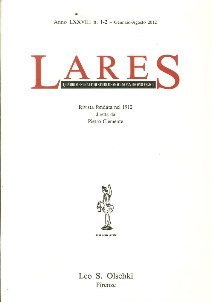 Lares. Anno LXXVIII. 0001-0002. Gennaio-Agosto 2012