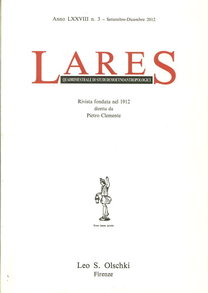 Lares. Anno LXXVIII. 0003. Settembre - Dicembre 2012