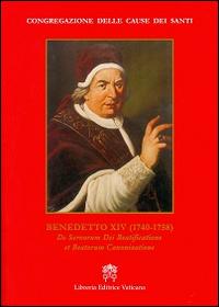 Benedetto XIV (1740-1758). De servorum dei beatificatione et beatorum canonizatione.