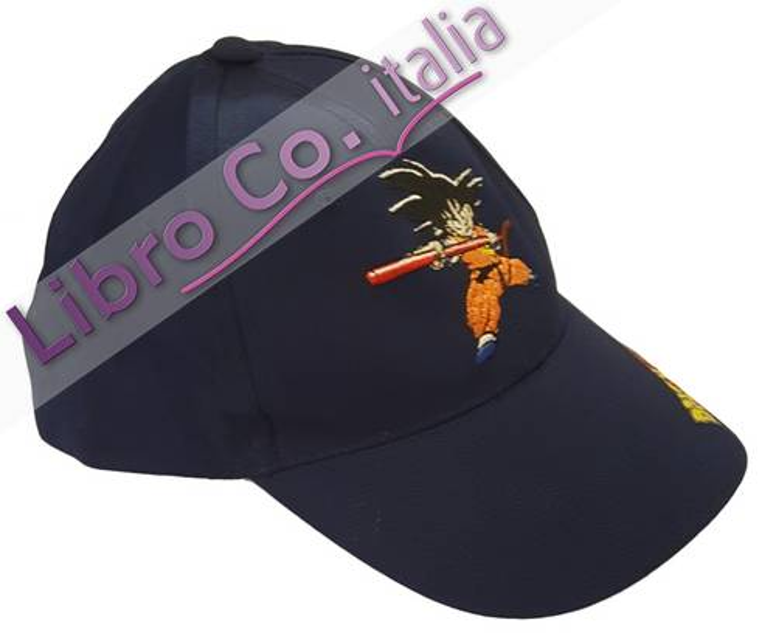 Cappellino Bimbo Dragon Ball - Goku Blu. Taglia Unica Regolabile