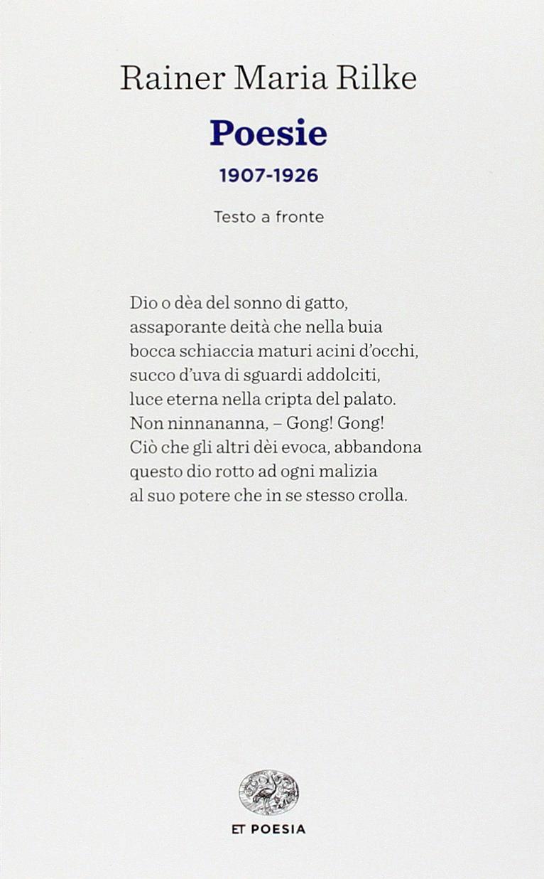 Poesie (1907-1926). [Ed. Italiano e Tedesco].