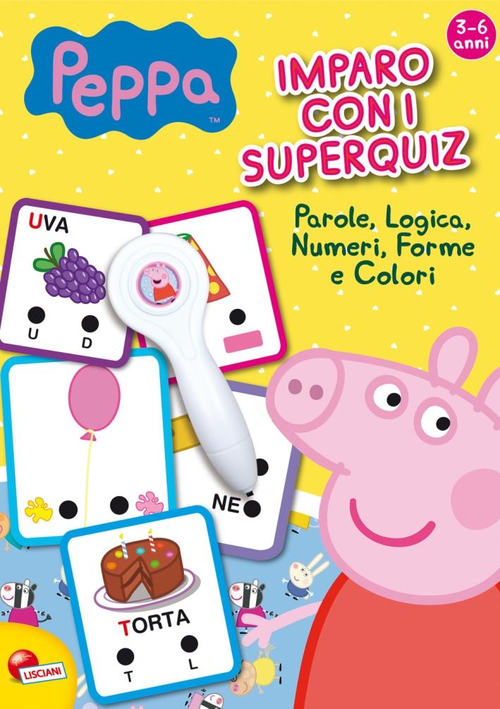 Peppa Pig. Imparo con i superquiz. Con gadget