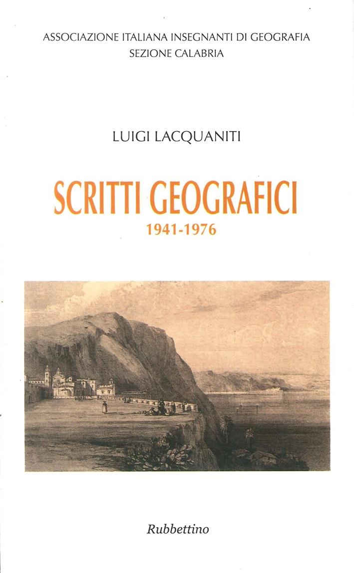 Scritti Geografici. 1941-1976