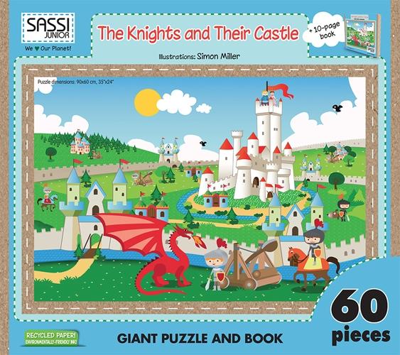 The knights and their castle. Libro puzzle. Ediz. illustrata. Con libro