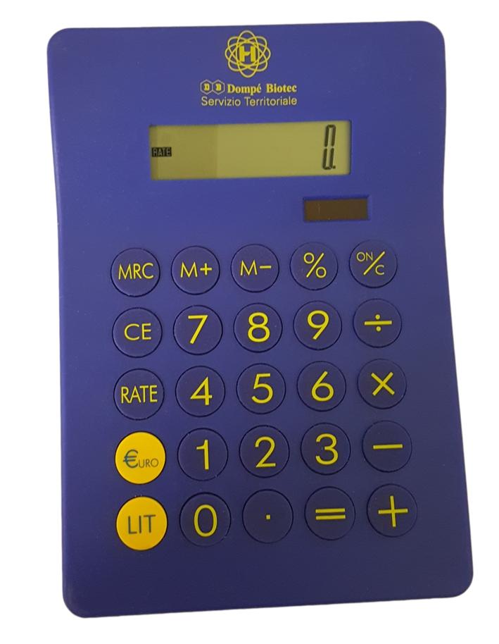 Calcolatrice Blu. Euro-lire cm 13,5x19,5