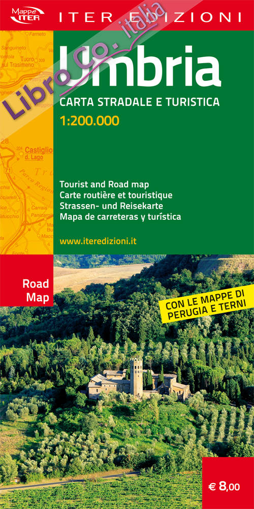 Umbria. Carta stradale e turistica 1:200.000. Ediz. multilingue
