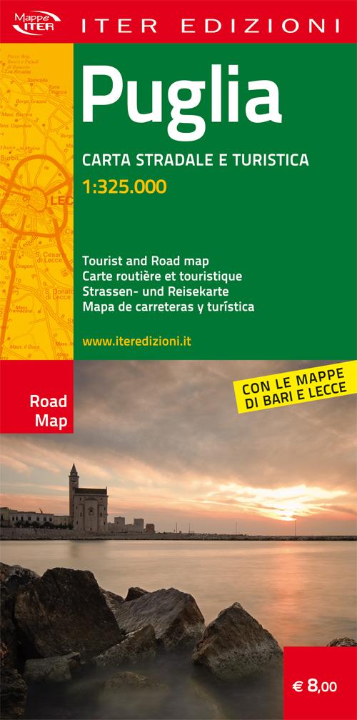 Puglia. Carta stradale e turistica 1:325.000
