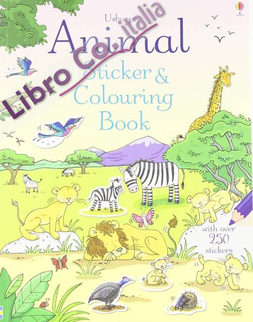 Animal Sticker and Colouring Book.