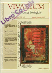 Vivarium. Rivista di scienze teologiche (2013). Vol. 2