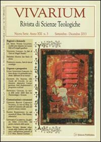 Vivarium. Rivista di scienze teologiche (2013). Vol. 3