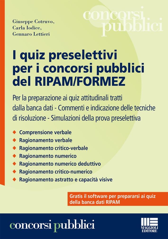 I quiz preselettivi per i concorsi pubblici del ripam/formez.