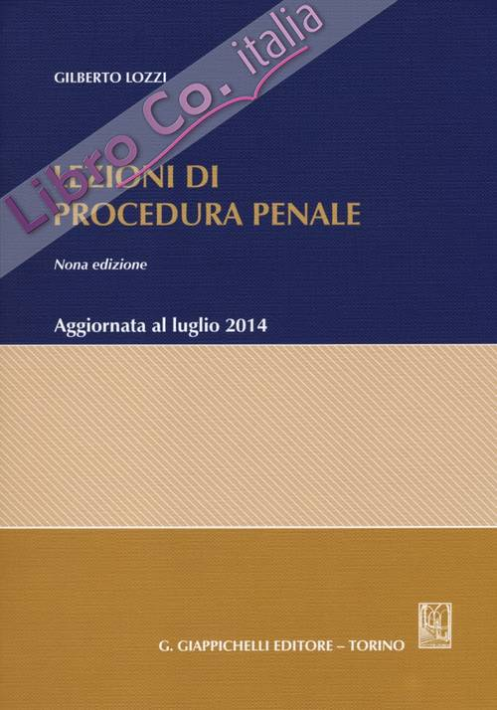 Lezioni di procedura penale