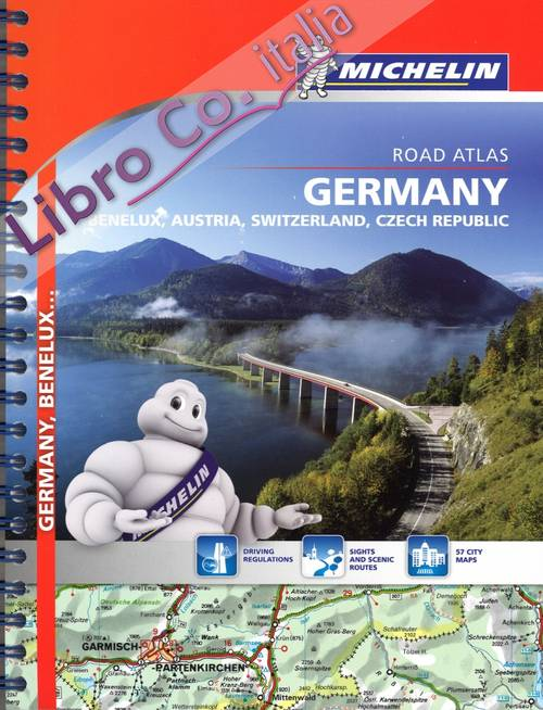 Germany. Benelux, Austria, Switzerland, Czech republic. Road atlas
