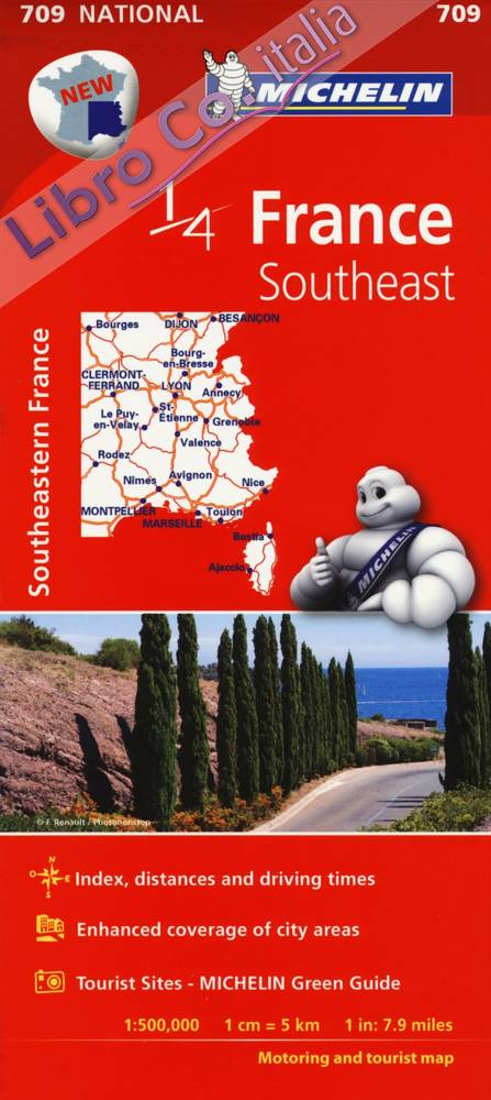 France. Southeast 1:500.000