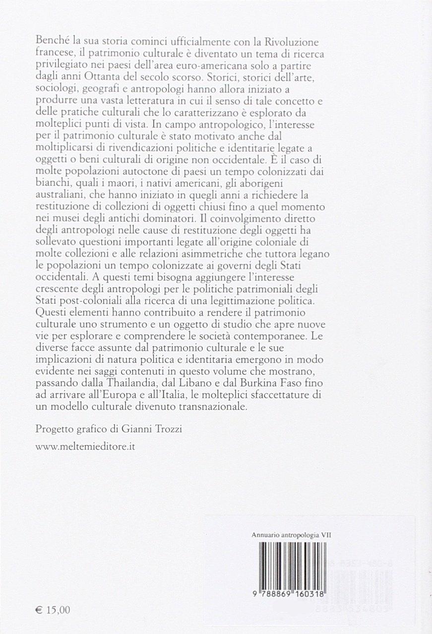 Antropologia (2006). Vol. 7: Il patrimonio culturale