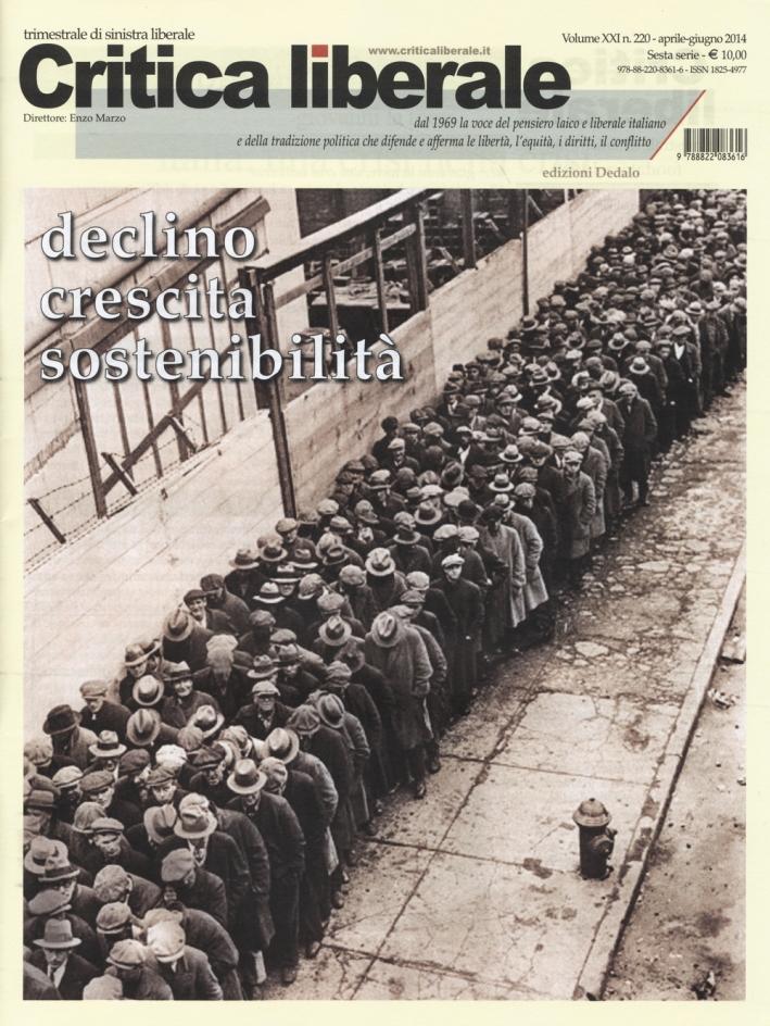 Critica liberale (2014). Vol. 220