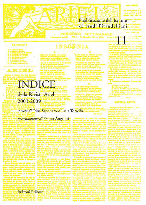 Indice della rivista «Ariel». 2003-2009