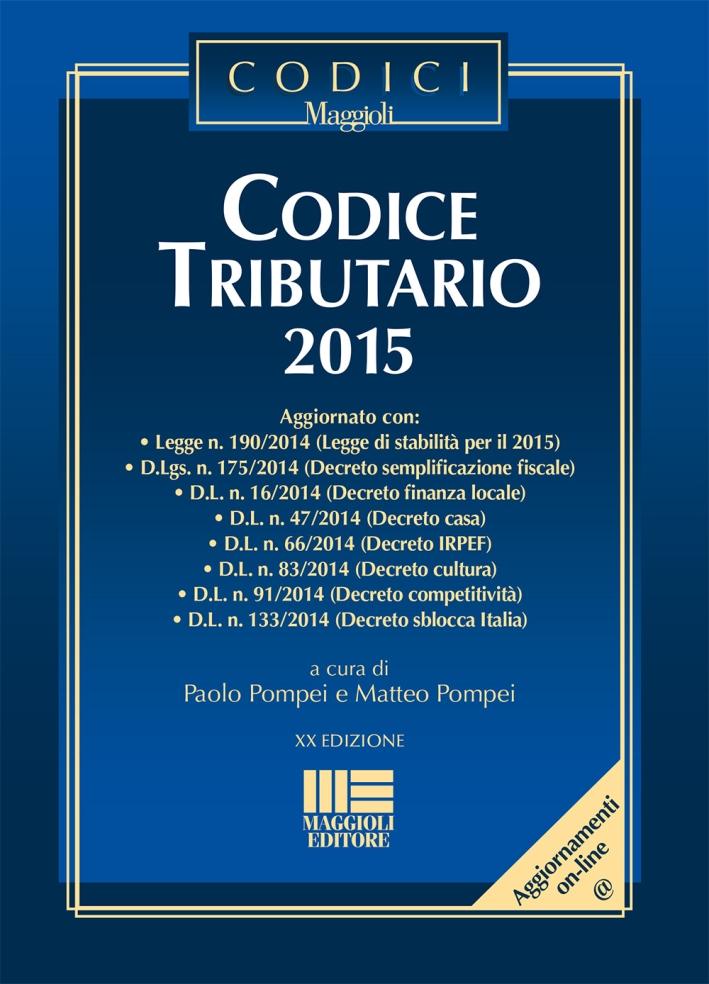 Codice tributario 2015.