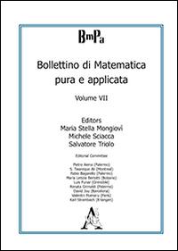 Bollettino di matematica pura e applicata. Vol. 7.