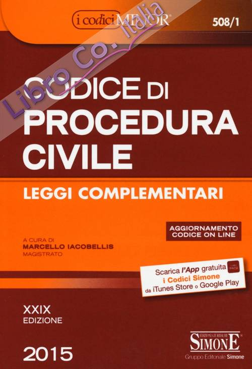 Codice di procedura civile. Leggi complementari. Ediz. minor.