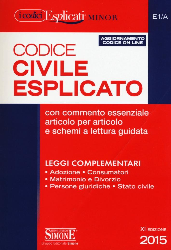 Codice civile esplicato. Ediz. minore