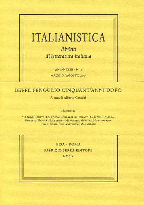 Beppe Fenoglio cinquant'anni dopo