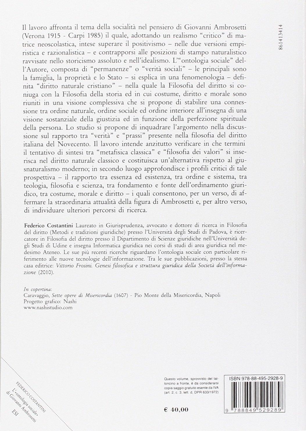 L'ontologia sociale di Giovanni Ambrosetti