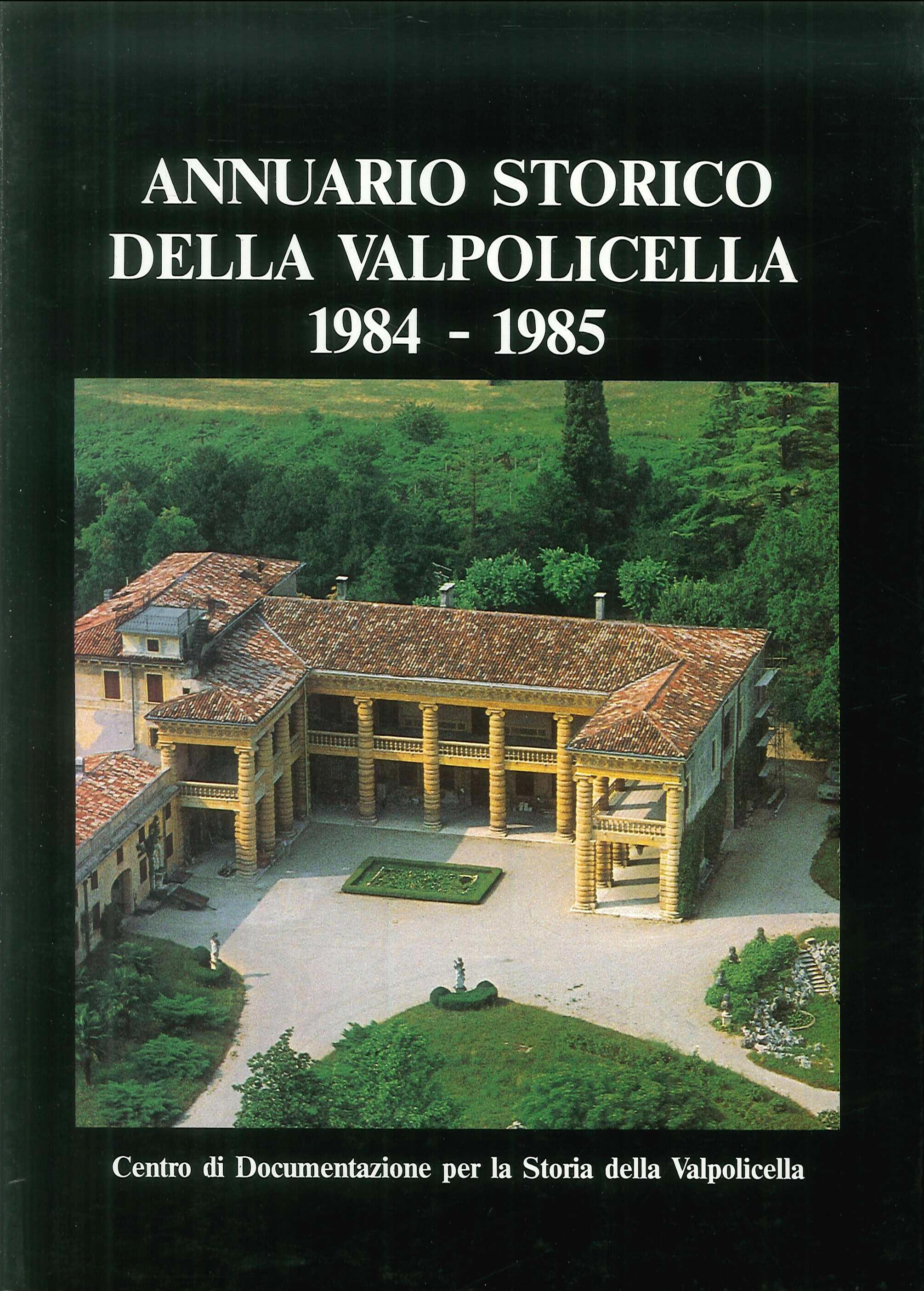 Annuario storico della Valpolicella 1984-1985