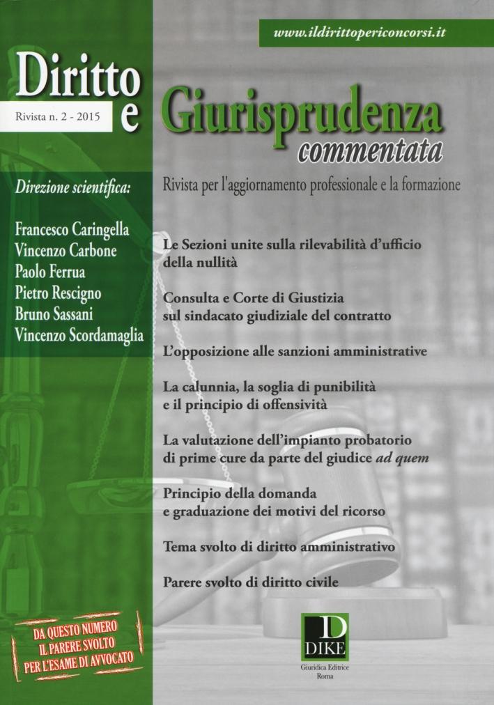 Diritto e giurisprudenza commentata (2015). Vol. 2