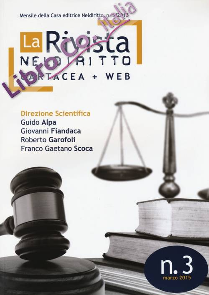 La rivista di Neldiritto (2015). Vol. 3