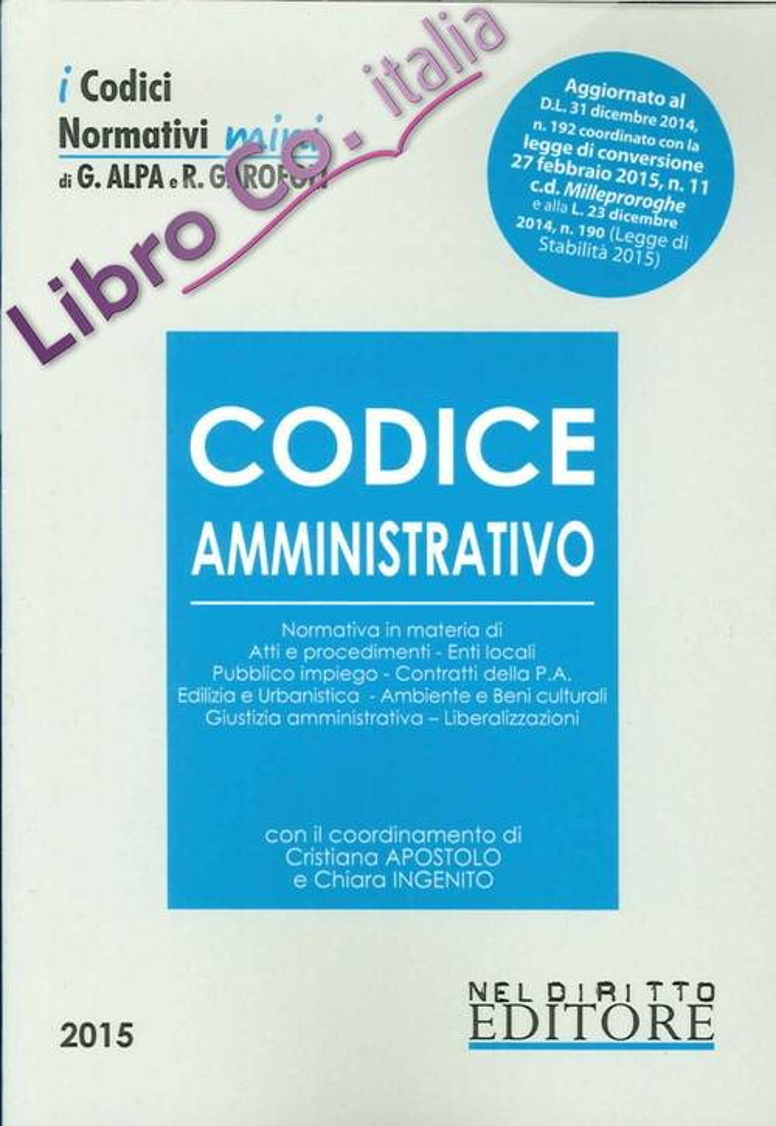 Codice Amministrativo 2015.