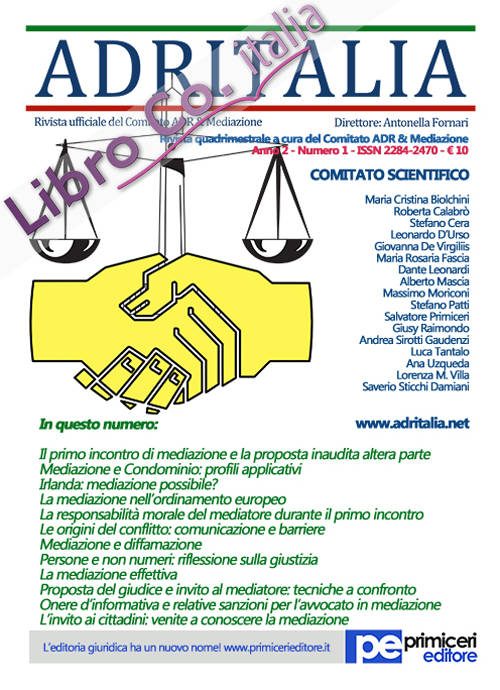 ADR Italia (2015). Vol. 1.