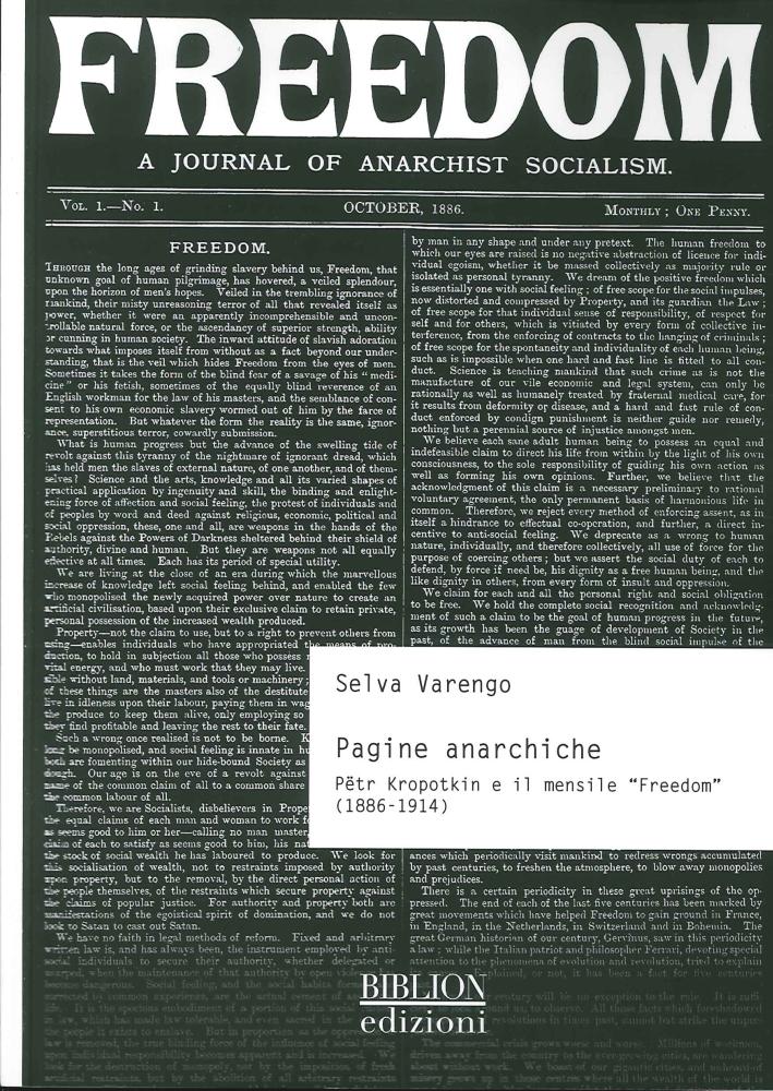 Pagine anarchiche. Petr Kropotkin e il mensile