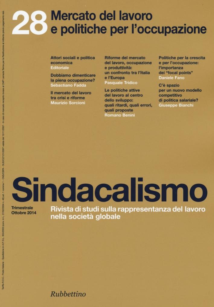 Sindacalismo (2014). Vol. 28