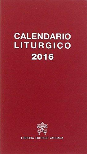 Calendario liturgico 2016