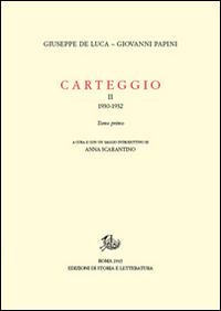 Carteggio (1930-1934). Vol. 2/1.