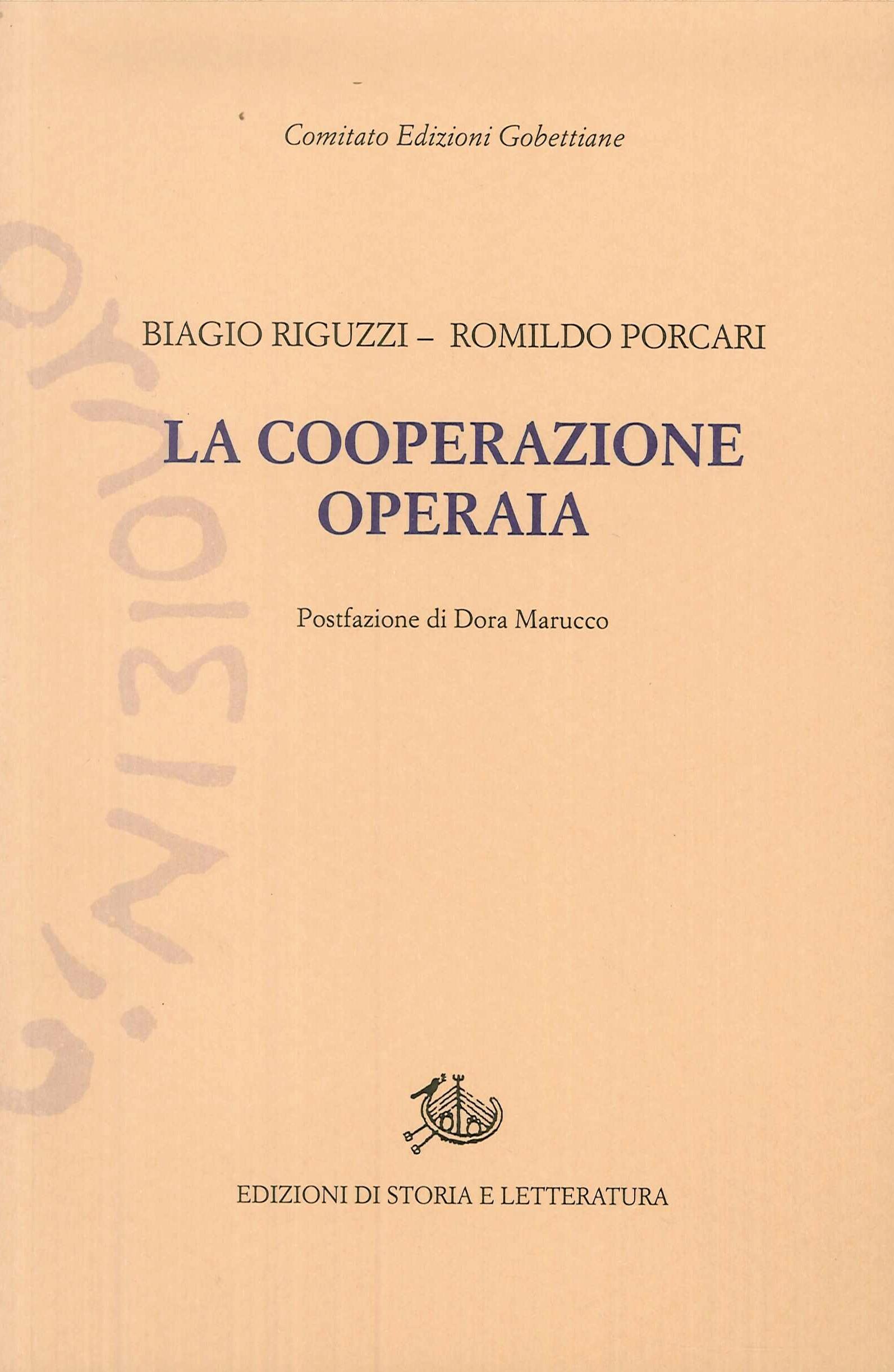 La cooperazione operaia