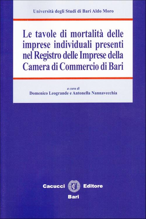 Le tavole di mortalità delle imprese individuali presenti nel registro delle imprese della Camera di Commercio di Bari