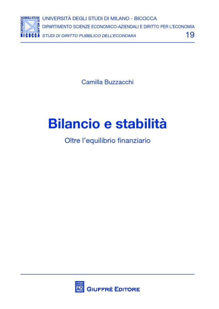 Bilancio e stabilità. Oltre l'equilibrio finanziario