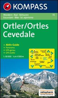 Wanderkarte n. 72. Ortles-Cevedale