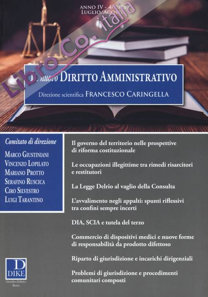 Il nuovo diritto amministrativo (2015). Vol. 4