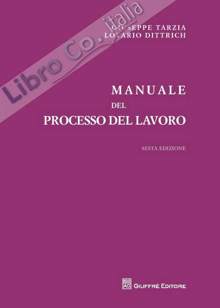 Manuale del processo del lavoro.