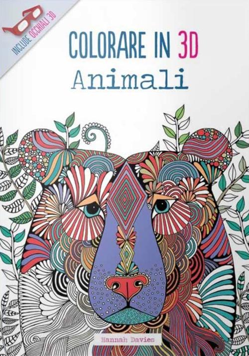 Animali. Colorare in 3D. Con gadget.