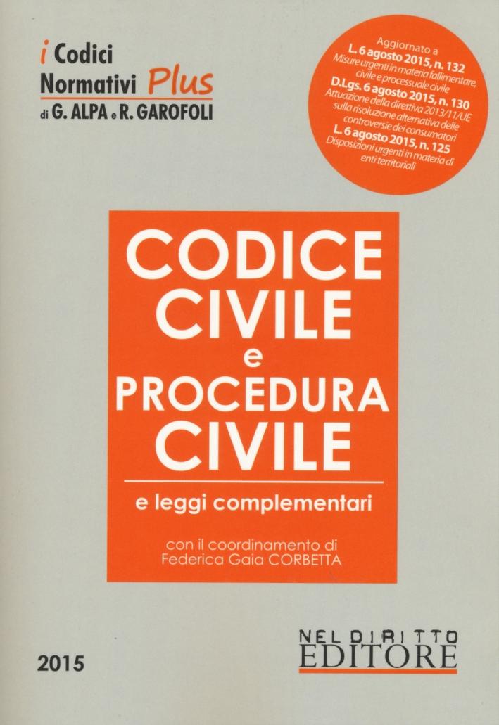 Codice civile e procedura civile e leggi complementari.