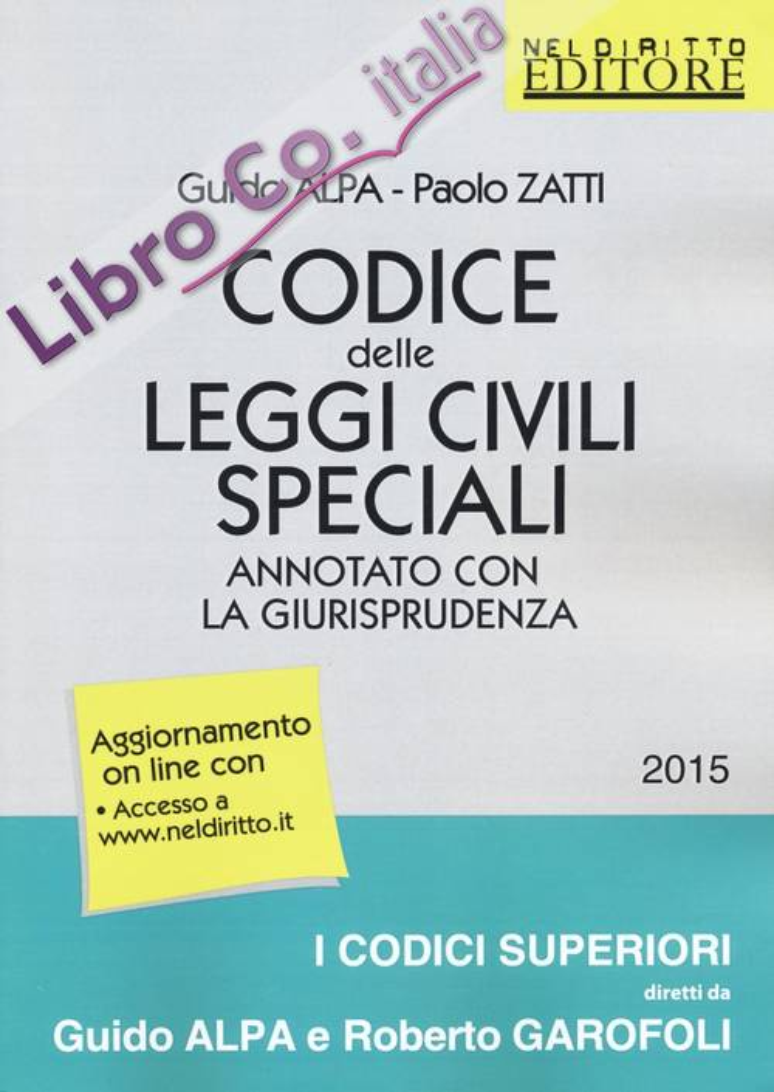 Codice delle Leggi Civili Speciali Annotato con la Giurisprudenza. Con Aggiornamento Online.