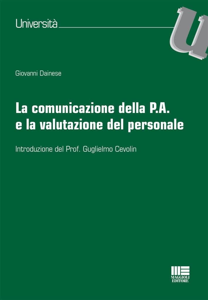 La comunicazione della P.A. e la valutazione del personale