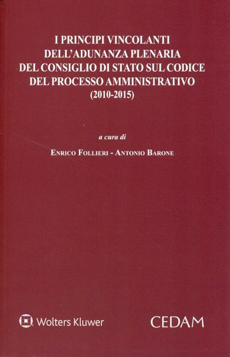 I principi vincolanti dell'adunanza plenaria del Consiglio di Stato sul codice del processo amministrativo (2010-2015)