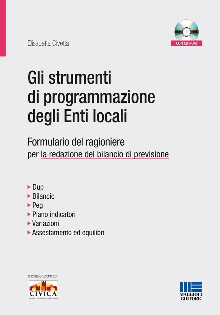 Gli strumenti di programmazione degli enti locali. Formulario del ragioniere per la redazione del bilancio di previsione. Con CD-ROM.
