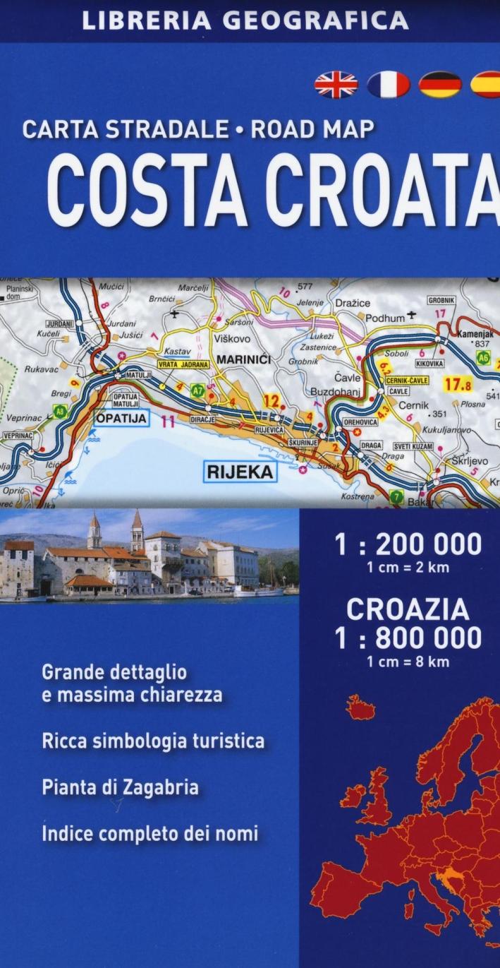 Costa croata 1:200.000. Croazia 1:800.000.
