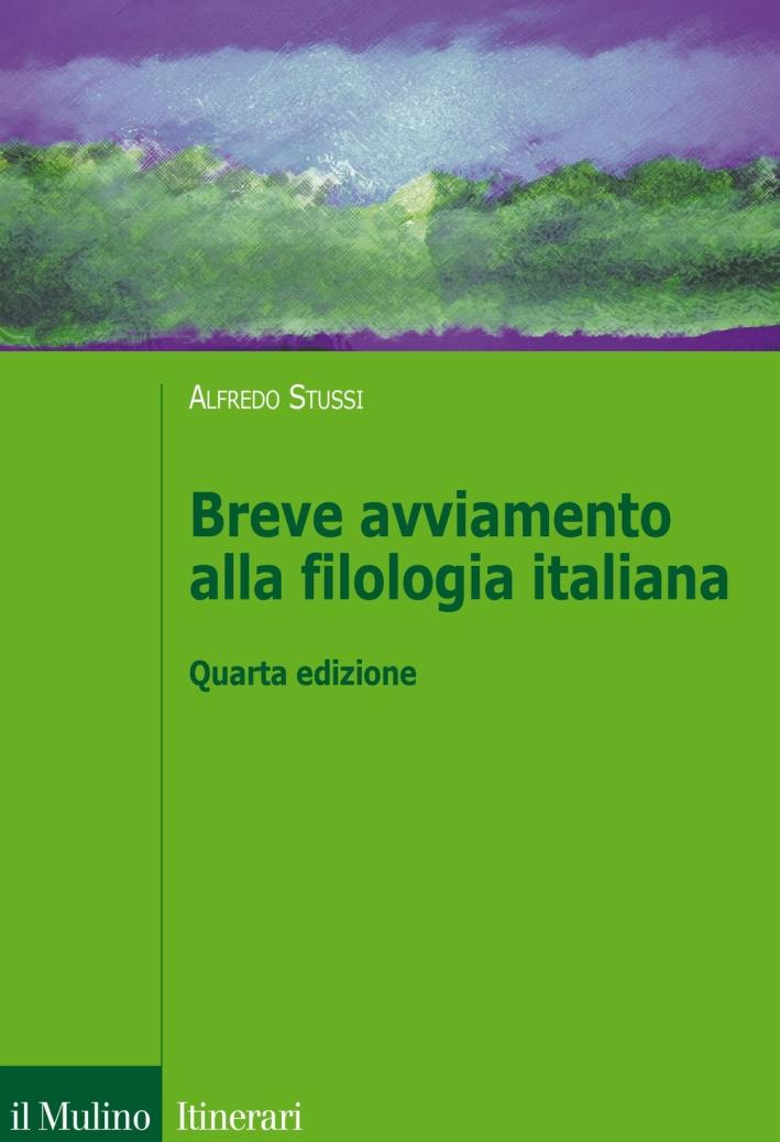 Breve avviamento alla filologia italiana